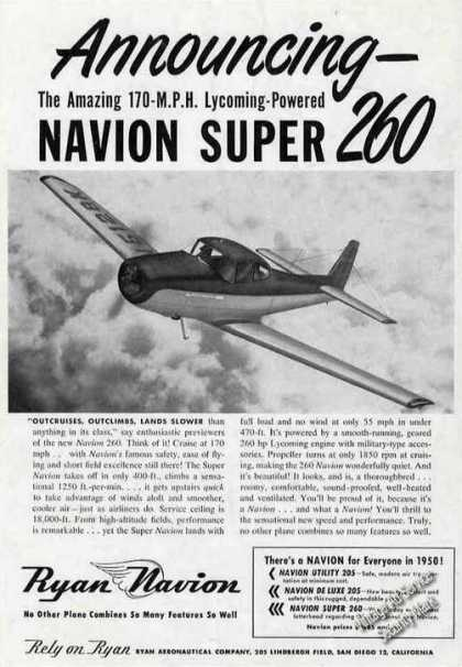 Ryan Navion Super 260 Photo Plane (1950)