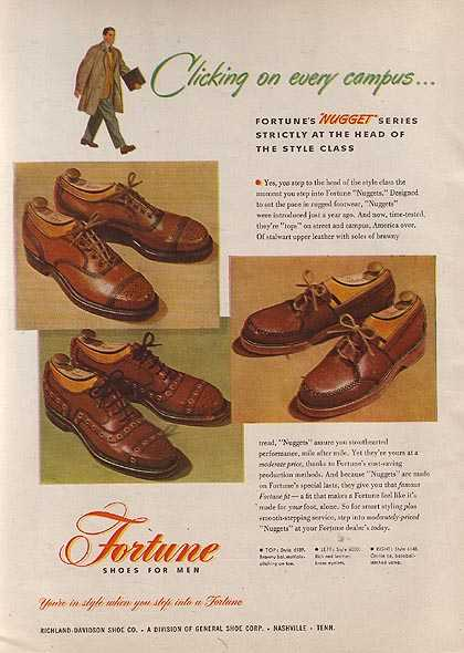 Fortune's Nugget Series of Shoes for Men (1947)