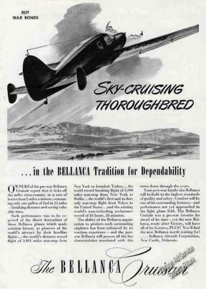 "Bellanca Cruisair ""Sky-cruising Thoroughbred"" (1945)"