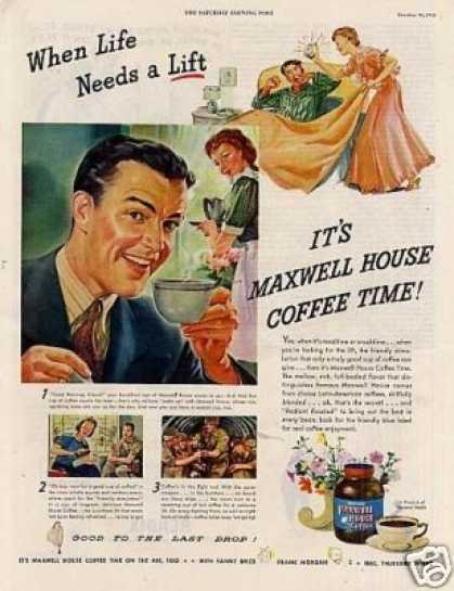 "Maxwell House Coffee Ad ""When Life Needs... (1943)"