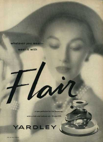 Yardley Flair Pefume Bottle (1952)