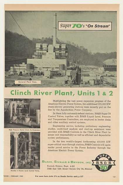 American Electric Power Clinch River Plant BS&B (1960)