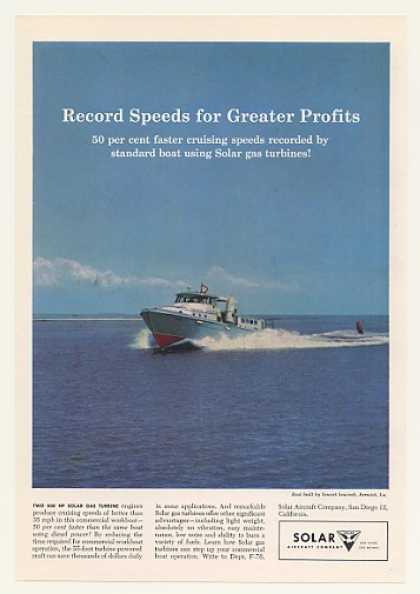 Sewart Seacraft Boat Solar Gas Turbine Engine (1958)