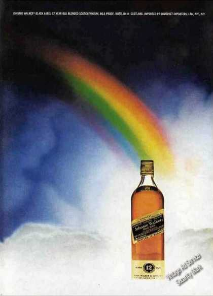 Johnnie Walker Black Nice Colors Rainbow (1973)