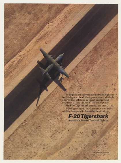 Northrop Six F-20 Tigershark in C-130 Aircraft (1986)