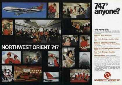 "Northwest Orient Photos (17) ""747s Anyone?"" (1970)"