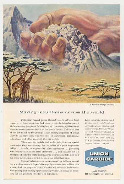 Union Carbide Moving Mountains Seek Ores Hand (1959)