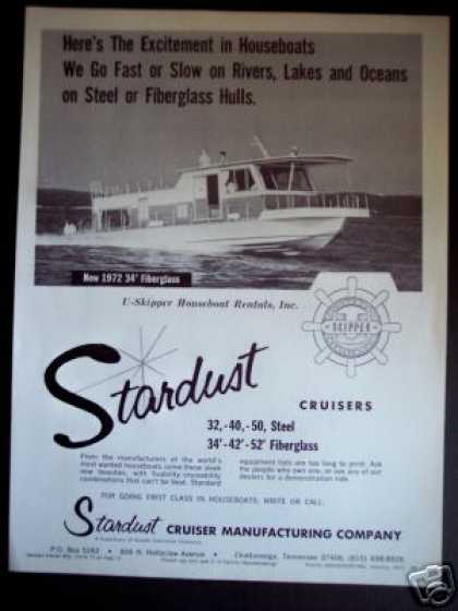 Stardust Cruisers Houseboat Boat (1972)