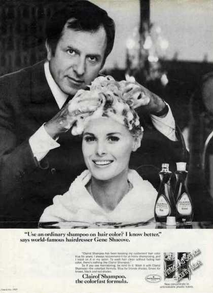 Gene Shacove Hairdresser Photo Clairol (1968)