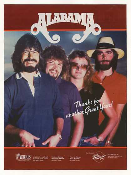 Alabama Country Music Group Photo Booking (1983)