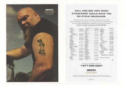Geico Cycle-Gard Motorcycle Insurance Biker 2-P (2004)