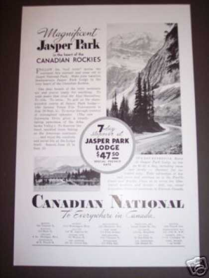 Jasper Park Canadian Rockies Travel Vacation (1934)