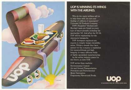 UOP Skychair Aircraft Seat Isadore Seltzer art (1970)