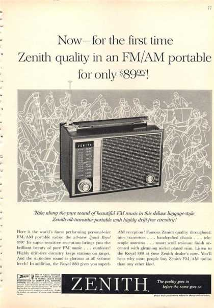 Zenith Portable Transistor Radio Royal 880 (1962)