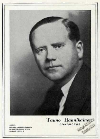 Tauno Hannikainen Photo Conductor Trade (1947)