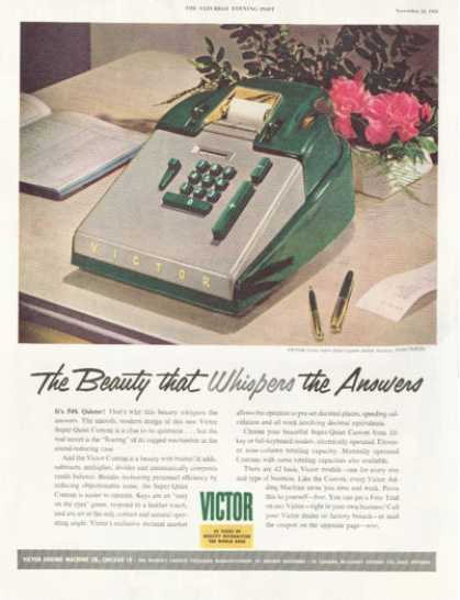 Victor 10-key Adding Machine Model 70-85-54 (1952)
