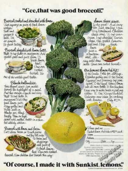 Gee That Was Good Broccoli Sunkist Lemons (1976)