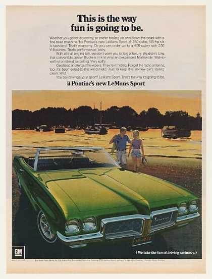 Pontiac LeMans Sport Convertible Way Fun Going (1970)