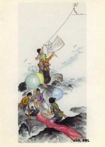 Kites cross the sea, early s (1970)