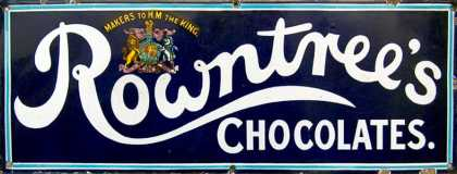 Rowntree's Chocolates Enamel Sign
