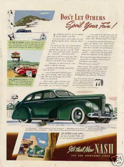 "Nash 4-door Sedan Ad ""Don't Let Others... (1939)"
