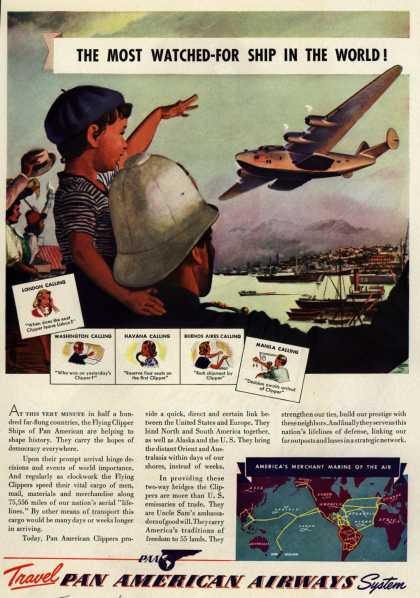 Pan American Airways System's Flying Clipper – The Most Watched-For Ship In The World (1941)