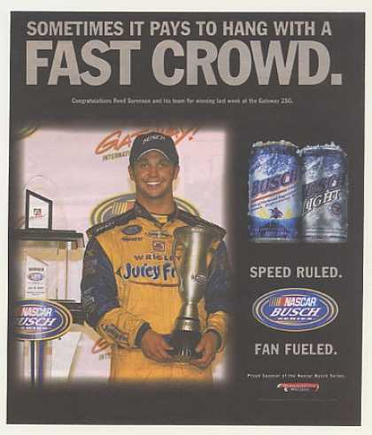 NASCAR Reed Sorenson Gateway 250 Win Busch Beer (2007)