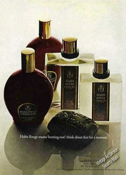 Habit Rouge for Men By Guerlain Nice (1967)