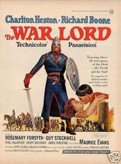 "Movie Ad ""The War Lord"" Charlton Heston (1965)"