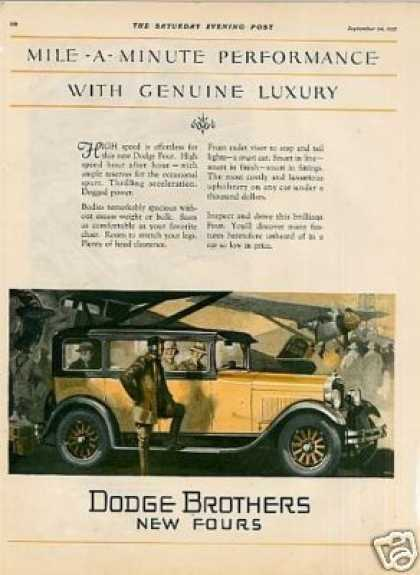 Dodge Brothers Four Car Color (1927)