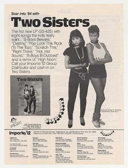 Two Sisters Album Promo Photo (1983)