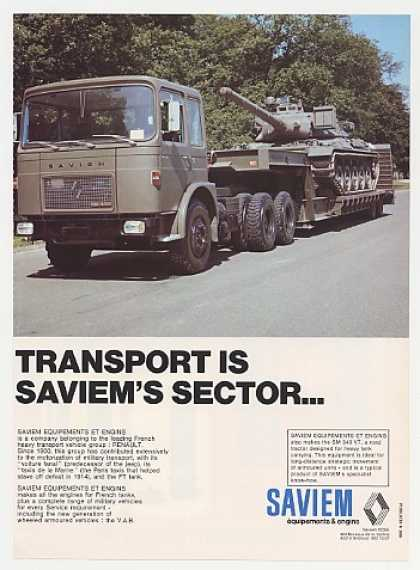 Saviem FT Tank SM 340 Transport Truck Photo (1976)