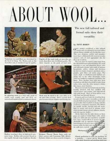 """About Wool"" Antique Fashion Pictures and Article (1947)"
