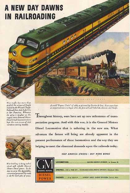 GM's Diesel Power Locomotives (1943)