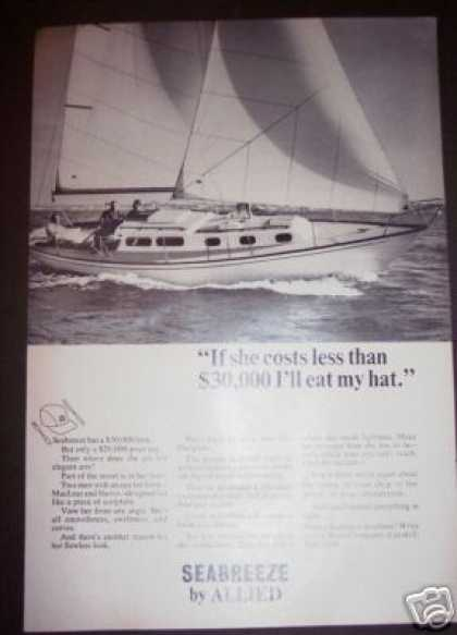 Original Seabreeze Sailboat Boat (1964)