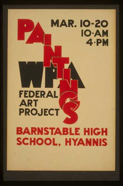 WPA Federal Art Project paintings, Barnstable High School, Hyannis. (1936)