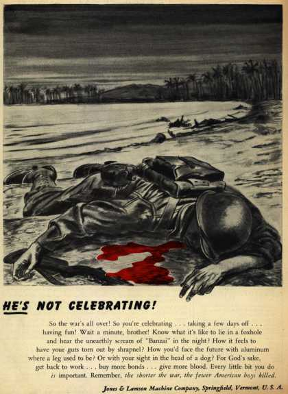 Jones & Lamson Machine Co.'s War Effort – He's Not Celebrating (1945)