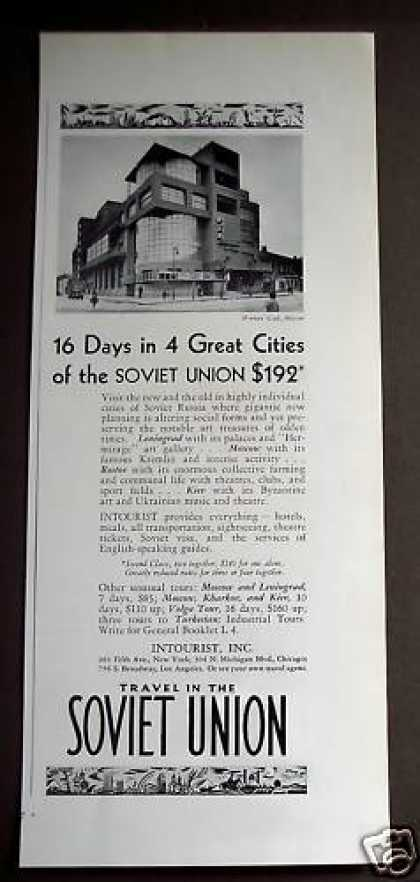 Soviet Union Vacation Moscow Travel (1932)