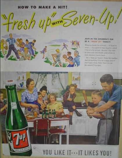 Seven Up Freshen Up Family Baseball theme (1947)