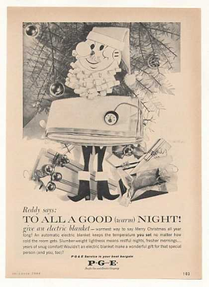 Reddy Kilowatt Christmas Electric Blanket PG&E (1960)