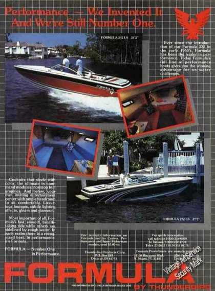 Formula Powerboats By Thunderbird Photos (1985)