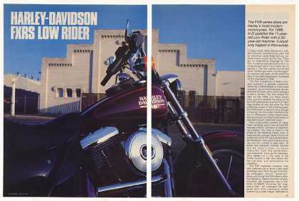 Harley-Davidson FXRS Low Rider Motorcycle Article (1987)