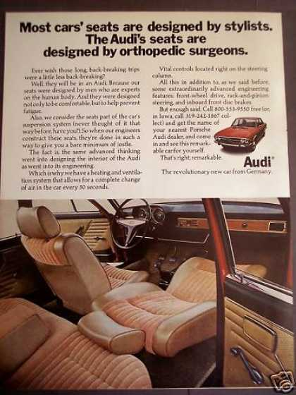 Audi Automobile W/ Comfy Seats Classic Car (1970)