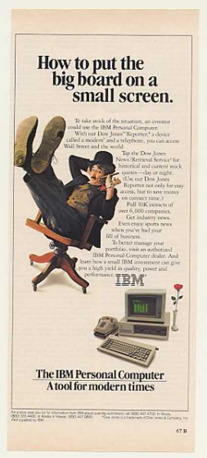 IBM PC Computer Dow Jones Reporter Little Tramp (1982)