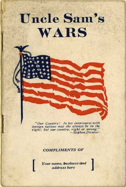 Fred D. Jone's Uncle Sam's Wars – Uncle Sam's Wars (1917)