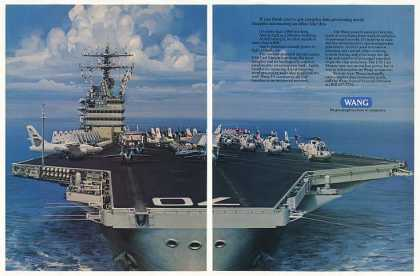 USS Carl Vinson Aircraft Carrier Wang Computers (1986)