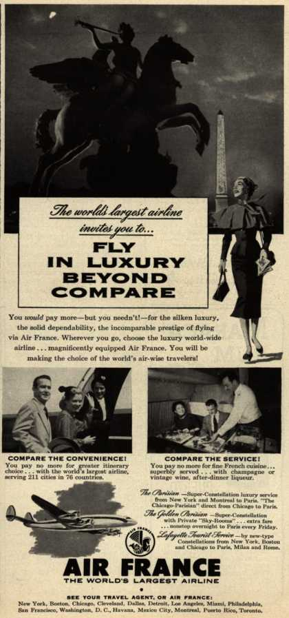 Air France – Fly In Luxury Beyond Compare (1954)