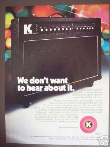 Kustom Iii Guitar Combo Amp Photo (1978)