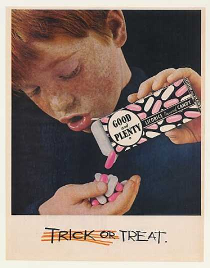 Good and Plenty Licorice Candy Boy Trick Treat (1963)