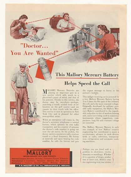 Mallory Mercury Battery Doctor Radio Pager (1951)